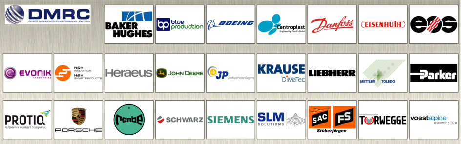 Industry partners of the DMRC.