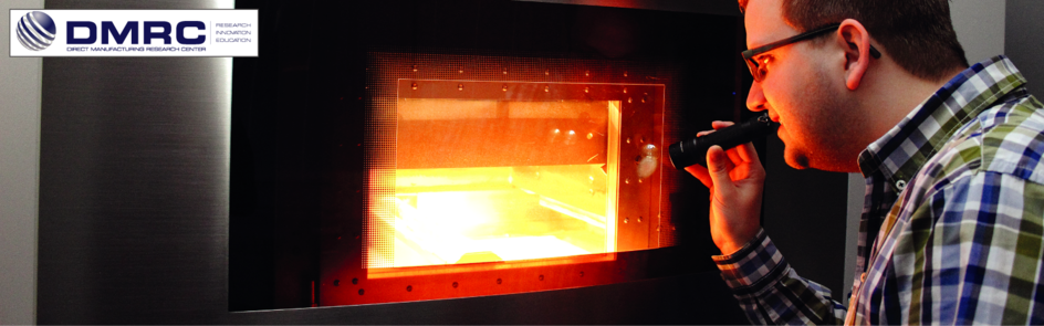 Quality control during a Laser Sinter (LS) build job by a researcher of the DMRC