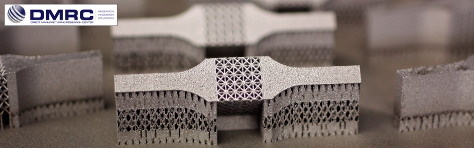 Lattice structure tensile specimen manufactured with laser melting (LM) process out of the material H13.