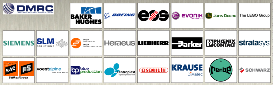 Industry partners of the Direct Manufacturing Research Center